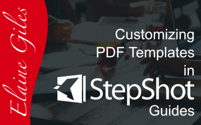 Customizing StepShot Guides PDF Templates